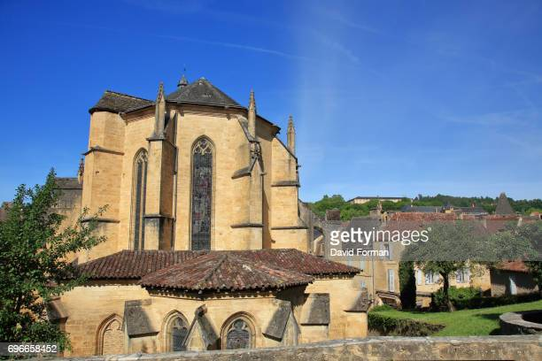 cathedral, sarlat-la-caneda, dordogne. - sarlat stock photos and pictures