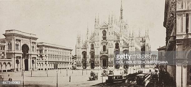 Cathedral Square illustration from Milan Cathedral and designs for its facade, by Camillo Boito , 1889.