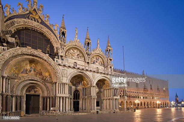 Cathedral St Marks Square Venice Italy in the morning