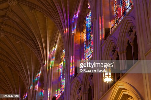 Cathedral Stained Glass Light Stock Photo