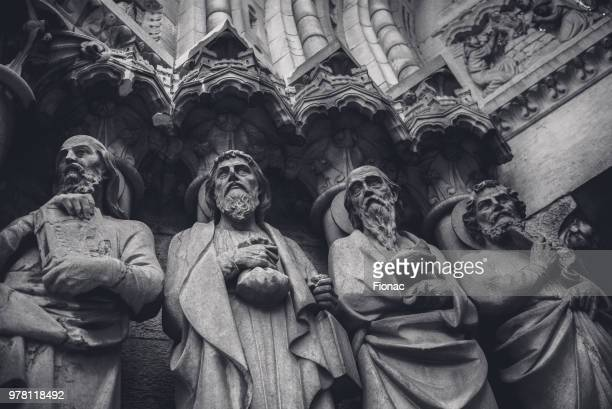 Cathedral statues of apostles
