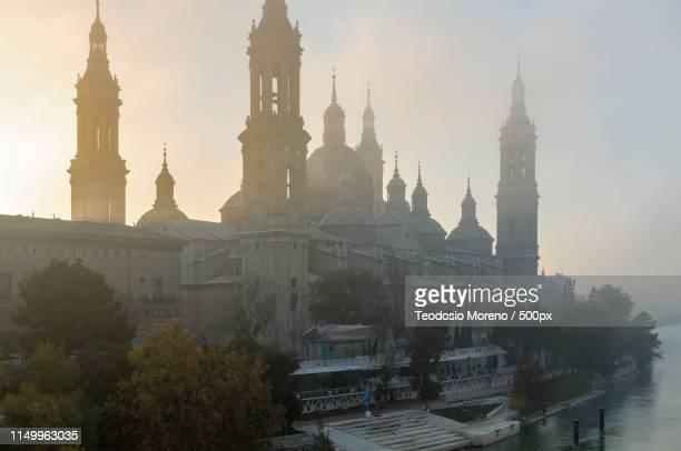 cathedral-basilica of our lady of pilar z - teodosio moreno fotografías e imágenes de stock