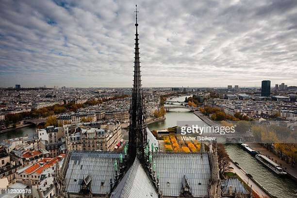 cathedrale notre dame - spire stock pictures, royalty-free photos & images