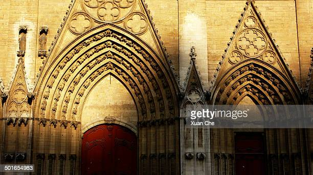 cathedrale saint-jean in lyon - xuan che stock pictures, royalty-free photos & images