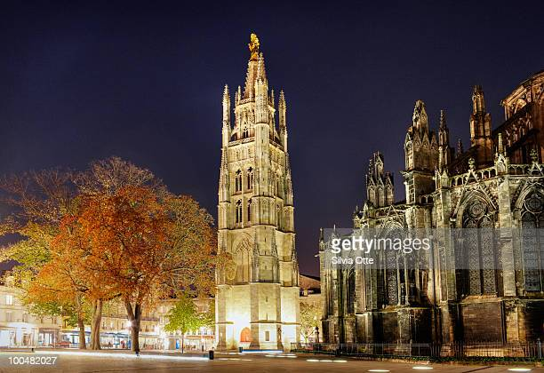 Cathedrale St Andre at night