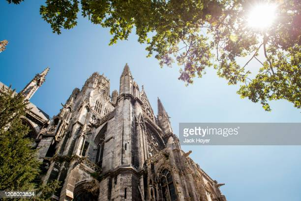 cathedrale st. ouen in rouen - rouen stock pictures, royalty-free photos & images
