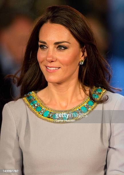 Catheine Duchess of Cambridge attends the UK premiere of African Cats in aid of Tusk at BFI Southbank on April 25 2012 in London England