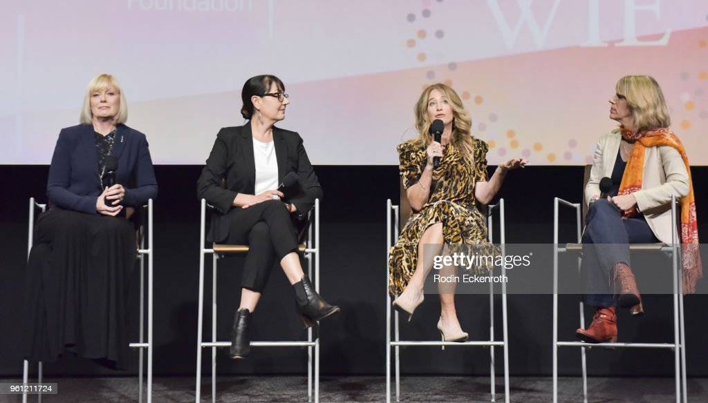 Catherine Adair, Hala Bahmet, Allyson Fanger, and Mary Melton speak onstage at the Women in Entertainment and The Television Academy Foundation's Inaugural Women in Television Summit at Saban Media Center on May 21, 2018 in North Hollywood, California.