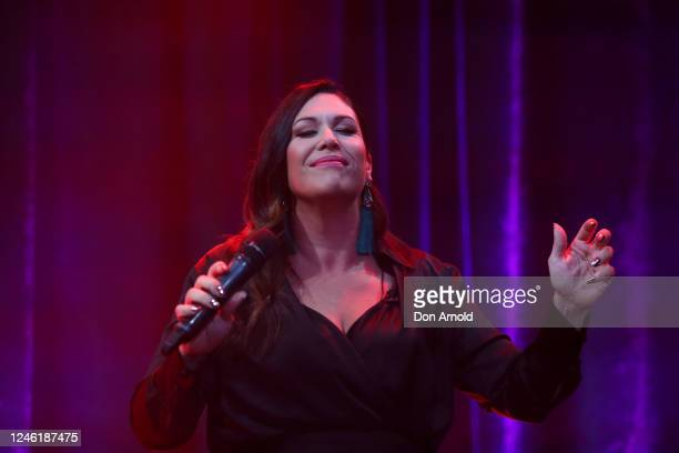 Catherine Alcorn performs during recording of the live show on June 05 2020 in Sydney Australia The Reservoir Room is livestream performances of...
