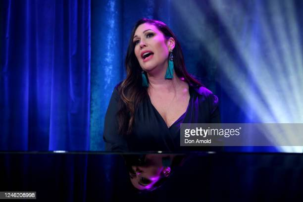 Catherine Alcorn performs post show on June 05, 2020 in Sydney, Australia. The Reservoir Room is live-stream performances of theatre, live music,...