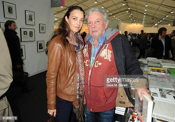 Catherine and David Bailey attend the private view of the Frieze Art Fair at Regent's Park on October 14 2009 in London England