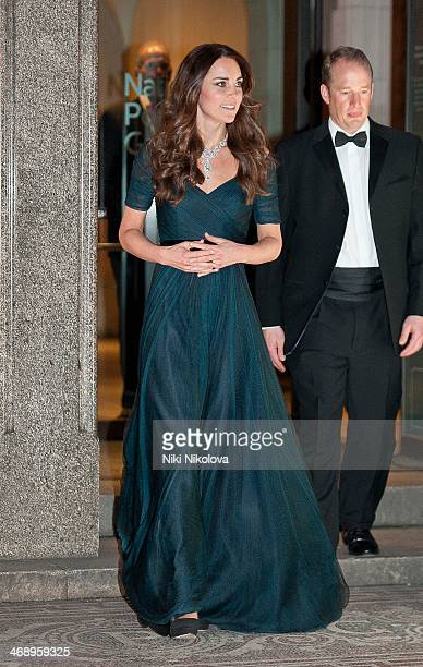 Catherine and Duchess of Cambridge attends The Portrait Gala 2014: Collecting To Inspire at National Portrait Gallery on February 11, 2014 in London,...