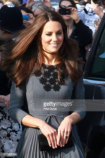 Catherine and Duchess Of Cambridge visit The Prince's Foundation For Children And The Arts at Dulwich Picture Gallery on March 15 2012 in London...