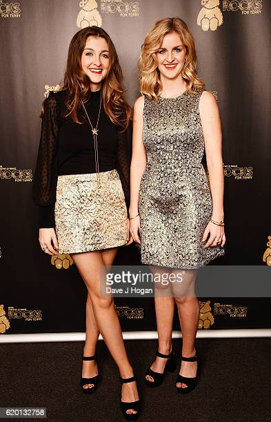 Catherine and Lizzy of Ward Thomas support BBC Children in Need Rocks for Terry at Royal Albert Hall on November 1 2016 in London England