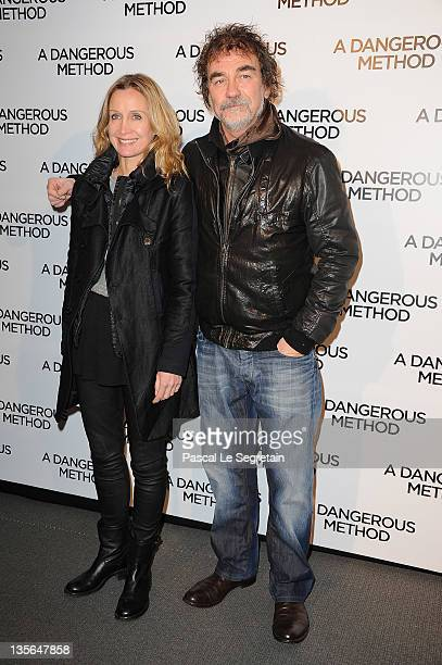 Catherine and Olivier Marchal attend 'A Dangerous Method' Premiere at Cinema UGC Normandie on December 12 2011 in Paris France