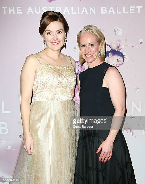 Catherine Andrews and Siobhan McKenna attend the Australian Ballet's 'The Sleeping Beauty' opening night at Arts Centre Melbourne on September 15...