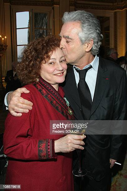 Catherine Arditi and Pierre Arditi in Paris France on March 31 2009