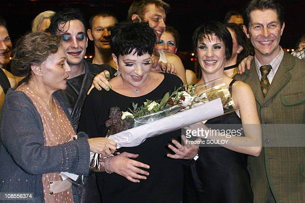 Catherine Arditi Liza Minnelli and Claire Perot in Paris France on October 26 2006