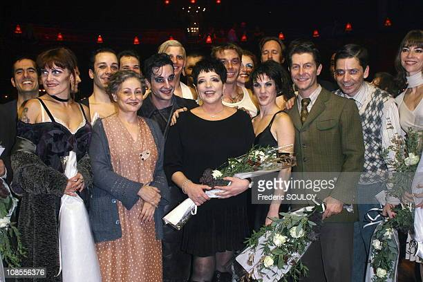 Catherine Arditi Liza Minnelli and Claire Perot with Team in Paris France on October 26 2006