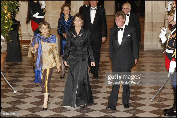 Catherine Arminjon Roesch Prince Ernst August and Princesse Caroline De Hanovre at Private View Of The Exhibition Quand Versailles Etait Meuble D'...