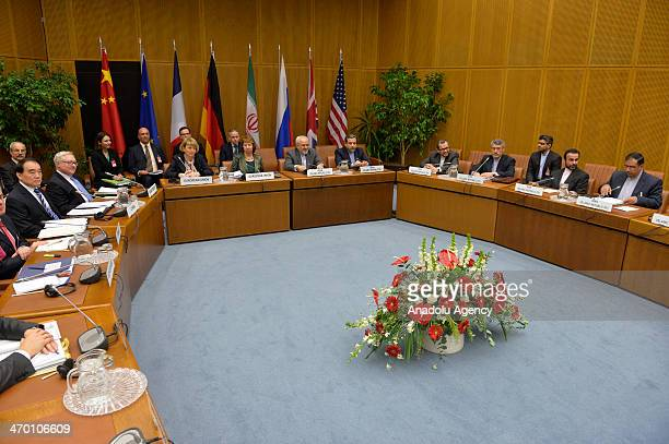 Catherine Asthon , Vice President of the European Commission and Javad Mohammad Zarif , Iranian Foreign Minister attend the EU 5+1 Talks with Iran at...