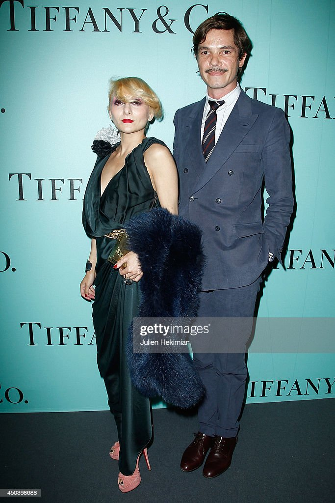 Catherine Baba and Elie Top attend the Tiffany & Co Flagship Opening on the Champs Elysee on June 10, 2014 in Paris, France.
