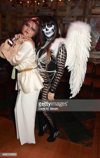 Catherine Baba and Fran Cutler attend 'Death Of A Geisha' hosted by Fran Cutler and Cafe KaiZen with Grey Goose on October 31 2014 in London England
