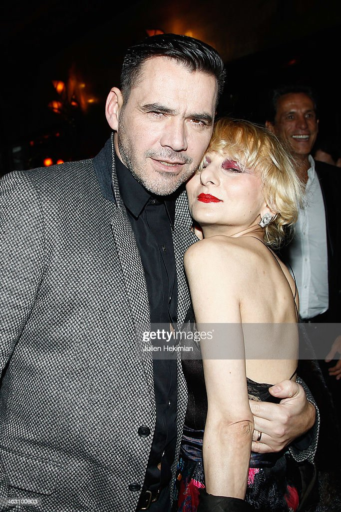 Catherine Baba and Roland Mouret attend the Robert Clergerie and Roland Mouret Cocktail Party as part of Paris Fashion Week on January 16, 2014 in Paris, France.