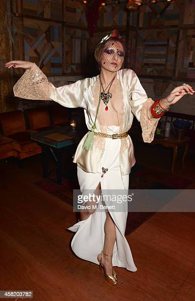 Catherine Baba attends 'Death Of A Geisha' hosted by Fran Cutler and Cafe KaiZen with Grey Goose on October 31 2014 in London England