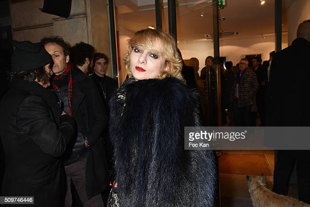 Catherine Baba attends 'Ghosts Of Glory' by Guilhem de Castelbajac : Exhibition Preview At Earth Gallery on February 11, 2016 in Paris, France.