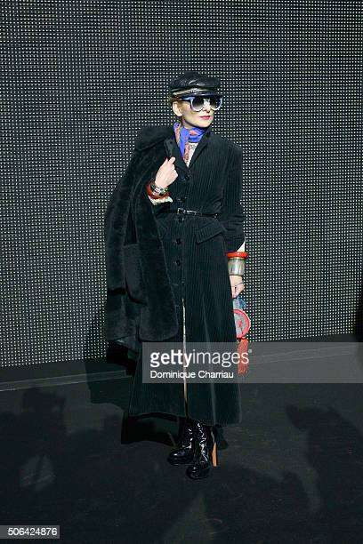 6476b0733 Catherine Baba attends the Dior Homme Menswear Fall Winter 20162017 show as  part of Paris