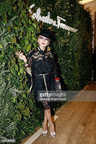 Catherine Baba attends the Re Opening of Salvatore Ferragamo Boutique at Avenue Montaigne on July 5 2016 in Paris France