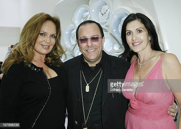 Catherine Bach Alan Friedman and Layna Friedman during Layna and Alan Friedman Host a Holiday Cocktail Party for the EMAEnviromental Media...