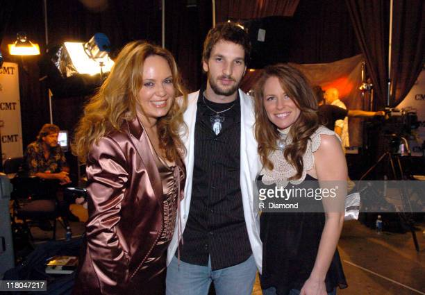 Catherine Bach Chris Hicky and Deana Carter during 2005 CMT Music Awards Backstage at Gaylord Entertainment Center in Nashville Tennessee United...