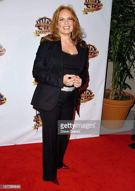 Catherine Bach during Warner Bros Television And Warner Home Video Celebrate 50 Years Of Quality TV Arrivals at Warner Bros Studio in Burbank...