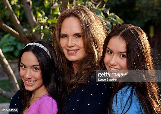 Catherine Bach with her daughters Laura and Sophie