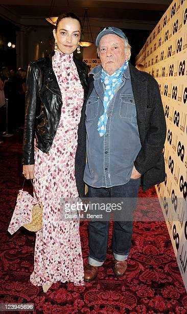 Catherine Bailey and David Bailey arrive at the GQ Men Of The Year Awards 2011 at The Royal Opera House on September 6 2011 in London England