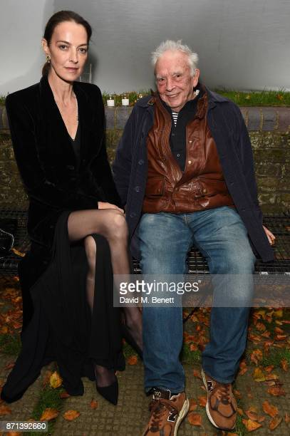 Catherine Bailey and David Bailey attend a dinner hosted by Jonathan Newhouse and Albert Read for Edward Enninful to celebrate the December issue of...
