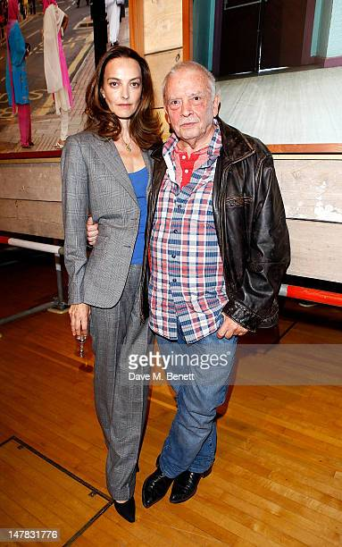 Catherine Bailey and David Bailey attend a private view of 'David Bailey's East End' at Compressor House Royal Docks on July 4 2012 in London England