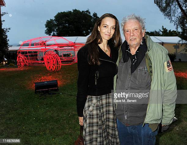 Y 29 Catherine Bailey and David Bailey attend Range Rover's Hay Festival dinner hosted by Dylan Jones and Nick Jones on May 29 2011 in HayonWye Wales