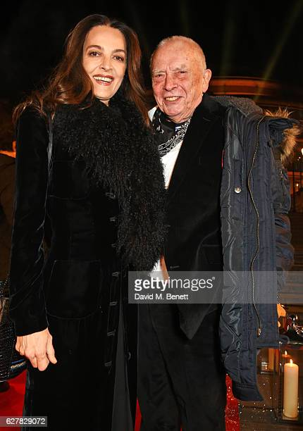 Catherine Bailey and David Bailey attend The Fashion Awards 2016 at Royal Albert Hall on December 5, 2016 in London, United Kingdom.