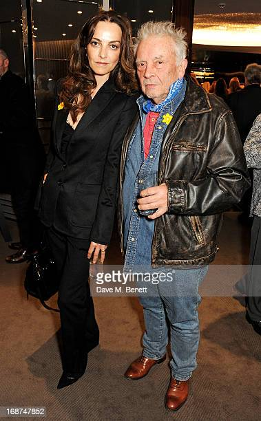 Catherine Bailey and David Bailey attend the launch of Samsung's NX Smart Camera at a charity auction with David Bailey in aid of Marie Curie Cancer...