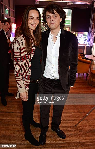 Catherine Bailey and Fenton Bailey attend a private view of Fentoscope Camera Shy presented by Fenton Bailey and supported by Crystal Head Vodka at...