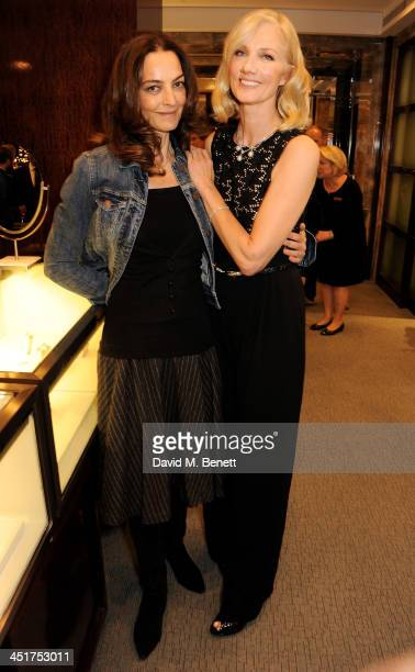 Catherine Bailey and Joely Richardson attend as Joely Richardson officially opens the Tiffany Co Christmas Shop on Bond Street London on November 24...