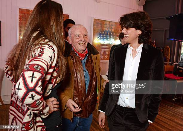 Catherine Bailey David Bailey and Fenton Bailey attend a private view of Fentoscope Camera Shy presented by Fenton Bailey and supported by Crystal...