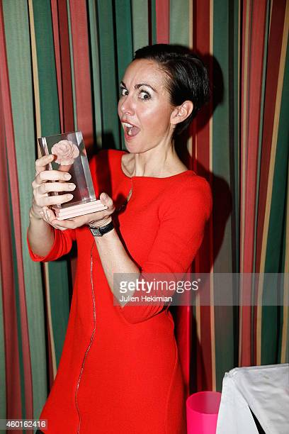 Catherine Barba is pictured after being awarded during the 'Prix De La Femme D'Influence 2014' Ceremony At Hotel Du Louvre on December 8 2014 in...