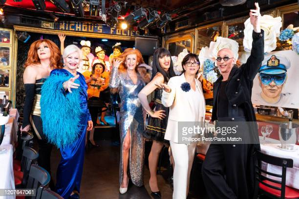 Catherine Baudelin the niece of Michou takes over as artistic director of the drag queen cabaret act Chez Michou in Montmartre Photographed for Paris...