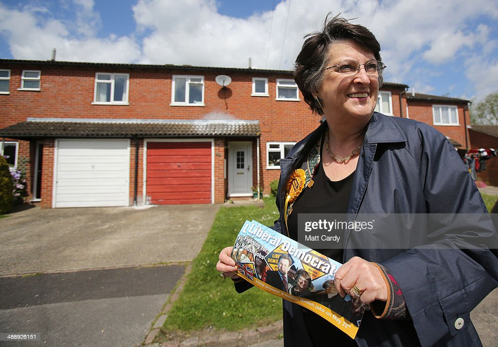 Liberal Democrat MEP Catherine Bearder Canvasses Ahead Of The European Elections : News Photo