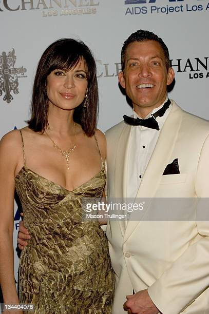 Catherine Bell and Abbey Owner David Cooley during The Abbey/Esquire Magazine's The Envelope Please Oscar Party Arrivals at The Abbey in Los Angeles...
