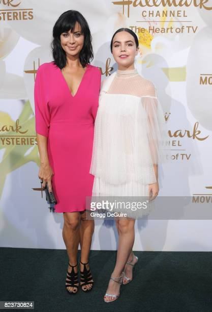 Catherine Bell and Bailee Madison arrive at the 2017 Summer TCA Tour Hallmark Channel And Hallmark Movies And Mysteries at a private residence on...
